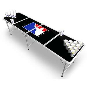 BPONG Official Beer Pong Table in Black Game Room