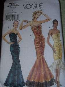 LADIES BEAUTIFUL STRAPLESS MERMAID FLOUNCE DRESS PATTERN 8 18 uc
