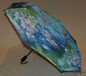 Compact Monet Water Lilies Umbrella Auto Open/Close