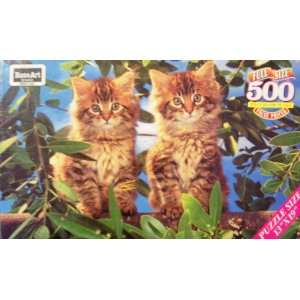 500 Piece Full Size Jigsaw Puzzle of Cats by Rose Art: Toys & Games