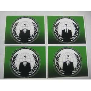 4 x Anonymous Flag Vinyl decals stickers WE ARE LEGION