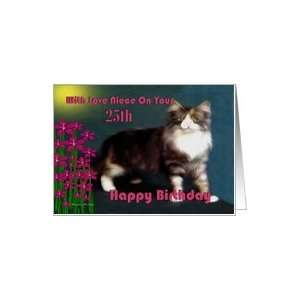 Happy Birthday ~ Niece ~ Age Specific 25th ~ Kitten With