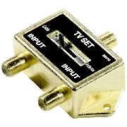 CABLE 2 WAY AB A B CATV TV HDTV RF ANTENNA VIDEO SPLITTER HD