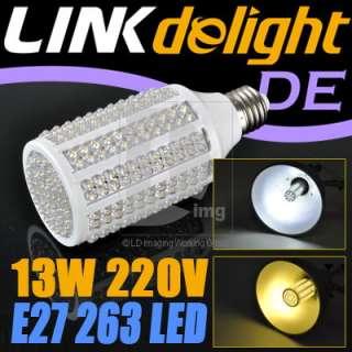 E27 263 LED 13W Bright/Warm White Lighting Energy Save Light Bulb Lamp