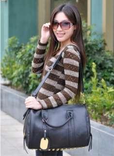 Tote Lady PU Leather Shoulder Messenger Bag Handbag Purse Rivet