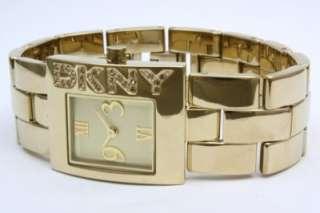 New DKNY Women Steel Gold Crystal Dress Watch NY4509