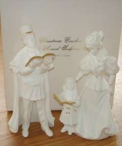 Lenox Christmas Carolers Figurines wBox   Musical White