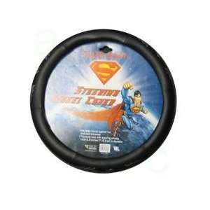 Superman Silver Lightning Bolt Comfort Grip Steering Wheel