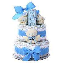 Boys Two Tier Diaper Cake