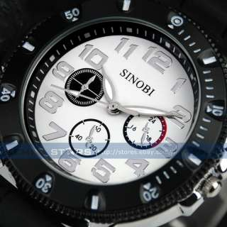 Men Boy Military Force Army Racing Sport Silicone Band Watch