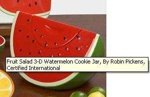 Fruit Salad Watermelon 3D Cookie Jar NIB Robin Pickens Certified