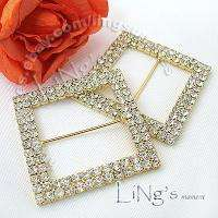 Silver/Gold Wedding Chair Sash A GRADE Diamante Buckle
