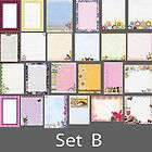 designer stationery variety pack set #3s stationary PICK YOUR SET