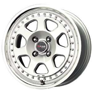 Drag DR 27 Silver Machined Wheel (15x7/4x100mm
