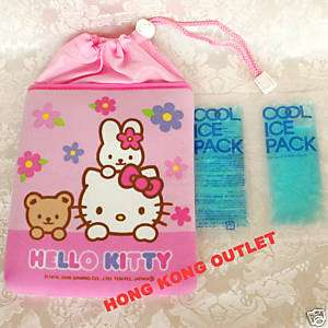 HELLO KITTY Thermal Cooler Bag + Coolant Ice Pack L5