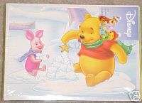 DISNEY CHRISTMAS HOLIDAY CARDS WINNIE THE POOH + PIGLET