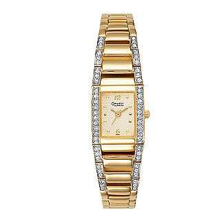 Ladies Gold Tone Watch  Caravelle Jewelry Watches Ladies