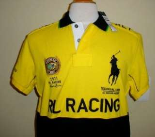 NEW XL Mens Polo Ralph Lauren RL1 Team Race Crew Shirt Racing Brazil