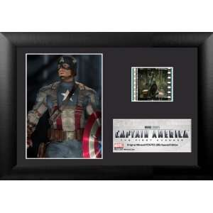 Marvel Comics Capatain America Wood Framed Movie Film Cell