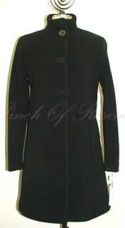 Calvin Klein Womens Wool Swing Coat Jacket Black Petite
