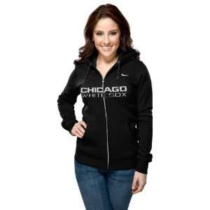 Chicago White Sox Womens Nike Black Classic Full Zip