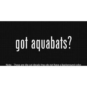 (2x) Got Aquabats   Sticker   Decal   Die Cut   Vinyl