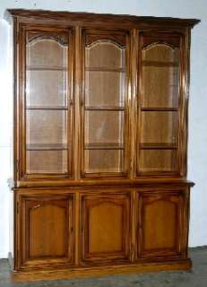 FRENCH ANTIQUE LOUIS PHILIPPE BOOKCASE CHINA CABINET