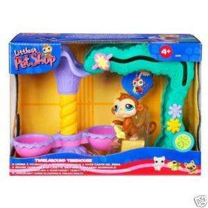 Littlest Pet Shop TWIRL AROUND TREEHOUSE Monkey Retired