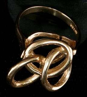 Ladies Love Knot Finger Ring 14KT Gold