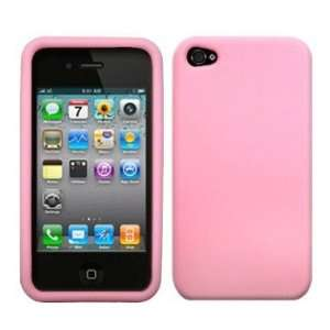 com Light Pink Premium Silicone Case / Skin / Cover for Apple iPhone