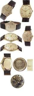 Rare 50s Longines Solid 14K Gold Mans Watch, Scientific Crosshatch