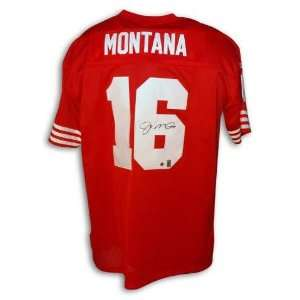 Autographed Joe Montana San Francisco 49ers Red Reebok