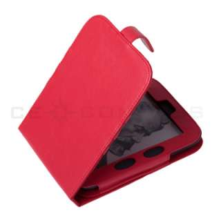 Barnes Noble Nook 2 Simple Touch 2nd Edition Red Leather Case Cover