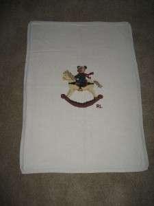 Ralph Lauren Rocking horse teddy bear baby blanket