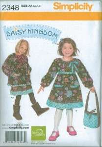 Simplicity Daisy Kingdom Girls Dress + Sewing Pattern