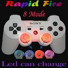Controller LED light mod wireless Rapid Fire DualShock3 white FPS gam