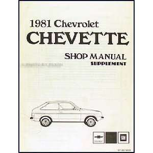 1981 Chevette Diesel Engine Repair Shop Manual Original