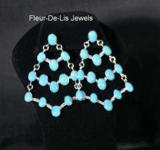 Jay King MINE FINDS Sleeping Beauty Turquoise Chandelier Earrings