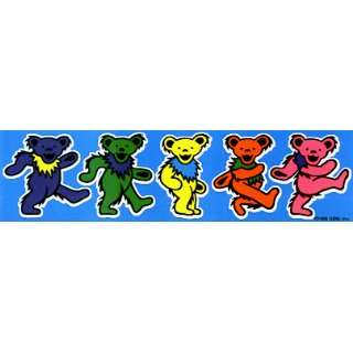 Grateful Dead   5 Jerry Bears on Blue   Small Sticker
