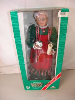 CREATIONS LARGE 25 CHRISTMAS ANIMATED LIGHTED MRS SANTA CLAUS DISPLAY