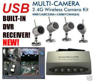 Wireless 4*IR Camera Kit Home Security USB DVR Systems