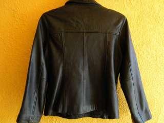 Jones New York Black Leather Coat Size M