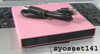 External USB Pink CD Burner DVD ROM Drive ASUS EEE PC