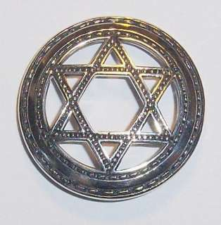 Sterling Silver SEAL OF SOLOMON Pendant Star David NEW