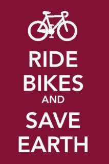 Ride Bikes and Save Earth Masterprint at AllPosters