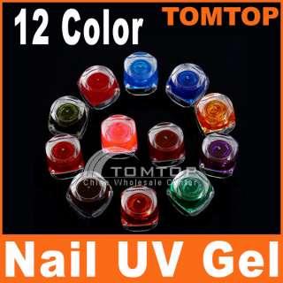 New 12 Colors Pure Translucence Nail Art UV Builder Gel