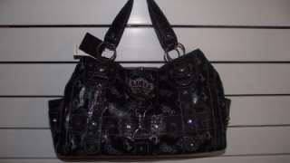 BABY PHAT Black Crown Very Large Handbag Purse Tote Bag NWT $120