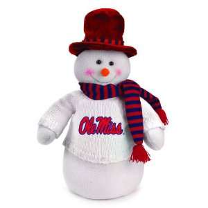 18 NCAA Mississippi Ole Miss Rebels Snowman Decoration Dressed for