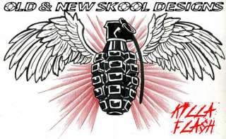 6000 QUALITY OLD/NEW SCHOOL TATTOO DESIGNS ON DVD ROM.
