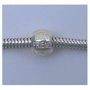 BEST FRIEND Sterling Silver Charm Bead for Troll Biagi